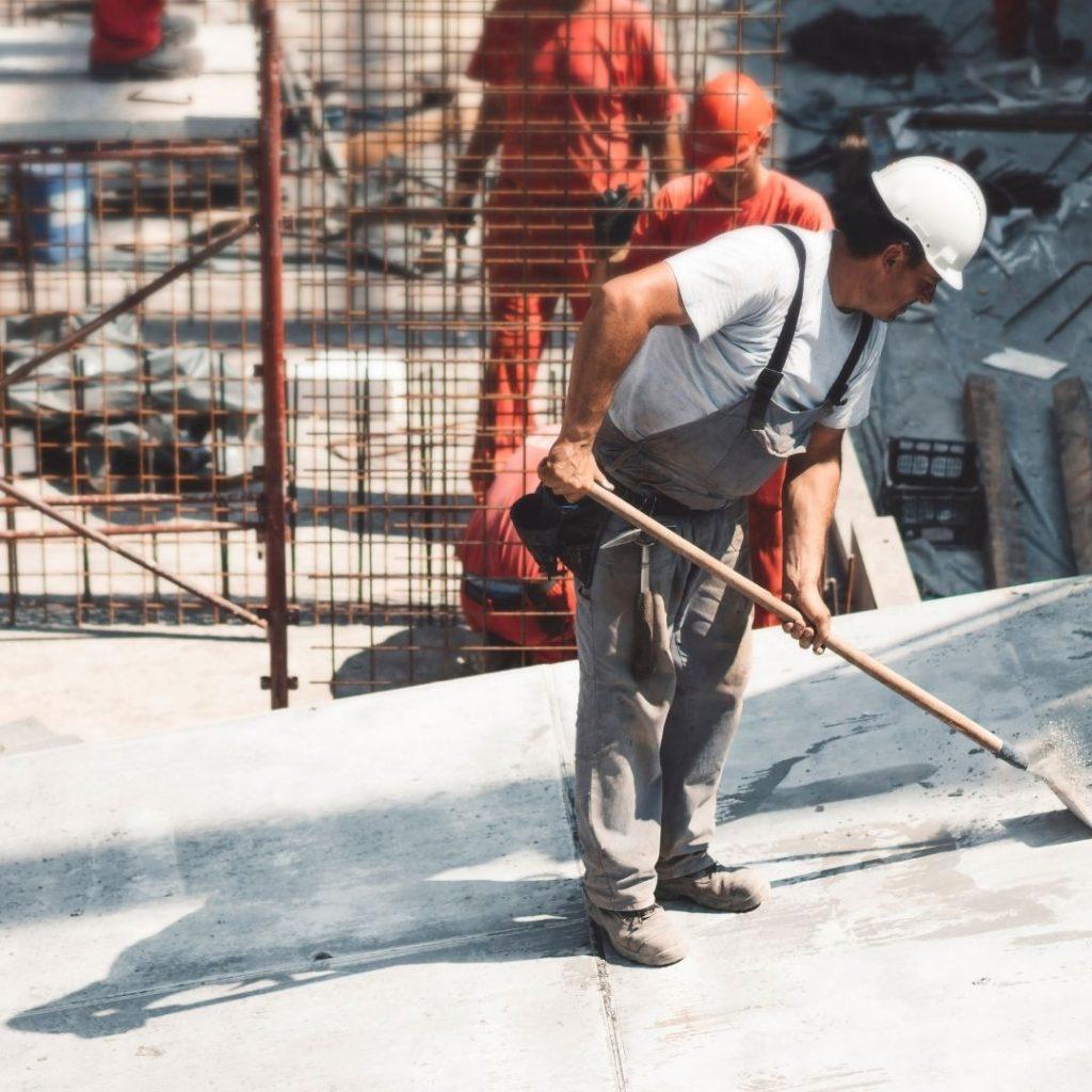 Baureinigung in Hamburg Arbeiter